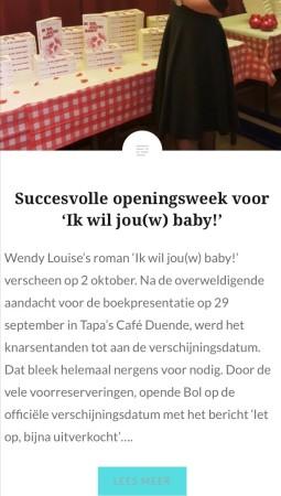 Wendy Louise, Ik wil jouw baby, bestseller, roman, feelgood
