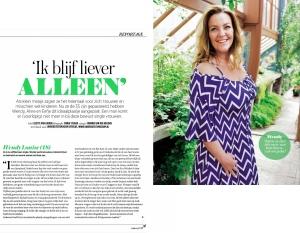 Wendy Louise, Vrouw, Vrouw magazine, De Telegraaf, Ik wil jouw baby, happy single